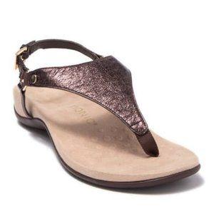 Vionic Kirra Metallic Bronze Thong Sandals